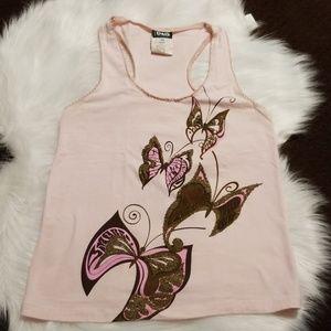Dolce & Gabbana beaded butterfly tank Size M
